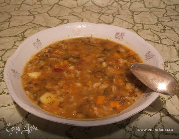 Машхурда (мясной суп с машем и рисом)