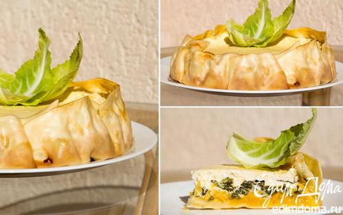 Рецепт Лазанья с тыквой, шпинатом и рикоттой