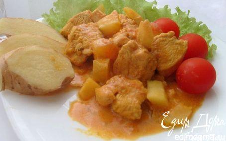 Рецепт Карри с курицей и папайей