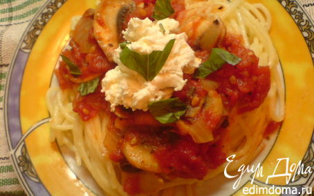 Рецепт Паста с томатно-грибным соусом