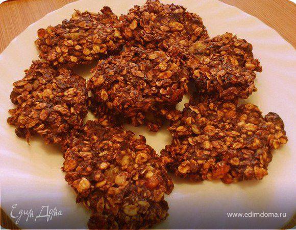 Постное овсяно-шоколадное печенье