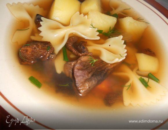 суп с сушеными грибами
