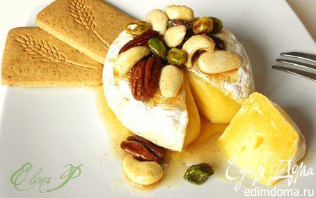 Рецепт Запеченный сыр бри с глазироваными орехами