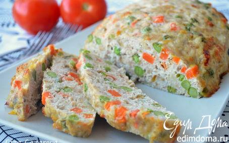 Рецепт Сочный куриный батон с овощами