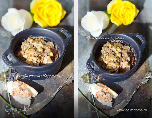 Нежный террин из кролика с тимьяном и куриной печенью