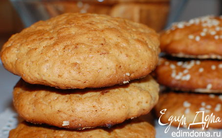 Рецепт Печенье из овсяных хлопьев и меда