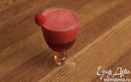 Рецепт Сок из арбуза, граната и замороженной малины