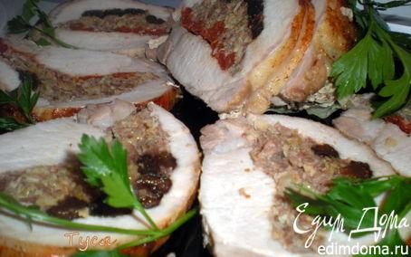 Рецепт Фаршированная свиная корейка