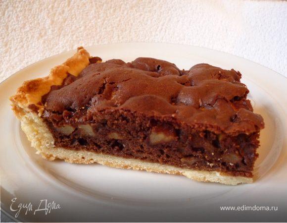 Пирог яблочно-шоколадный