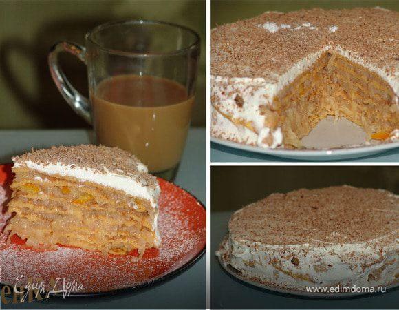 Блинный тыквенный торт