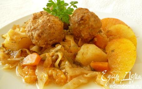 Рецепт Осеннее рагу с фрикадельками из говядины
