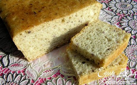 Рецепт Пшеничный хлеб с базиликом (на закваске)