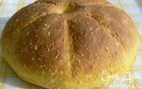 Рецепт Тыквенный хлеб с кукурузными хлопьями