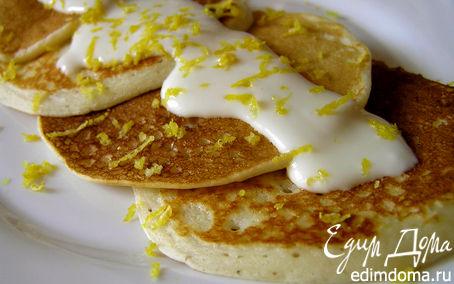 Рецепт Оладьи на кефире с лимонным кремом
