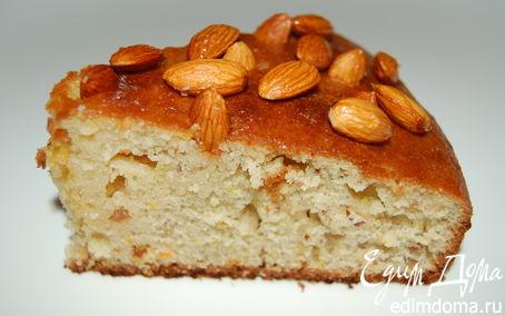 Рецепт Пирог миндально-цитрусовый с медовой заливкой (по мотивам пирога от Джейми Оливера)