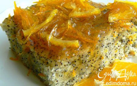 Рецепт Кекс с маком и апельсиновым сиропом