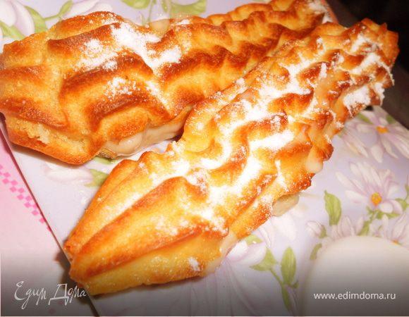 Эклеры с ореховым кремом