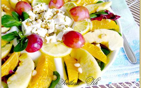 Рецепт Фруктовый салат с сыром фета