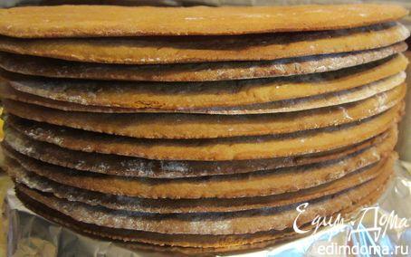 Рецепт Нежные и тонкие медовые коржики