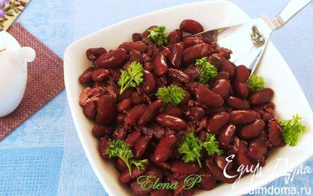 Рецепт Запеченная фасоль с красным вином