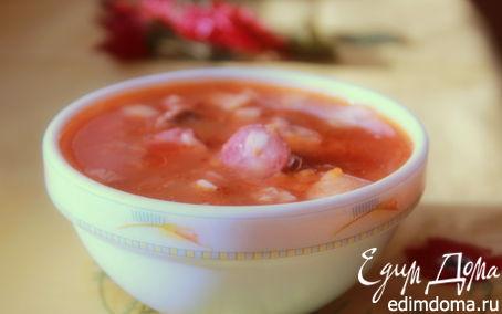 Рецепт Солянка с говяжьим сердцем и охотничьими колбасками для LAPSHA (МАРИЯ)