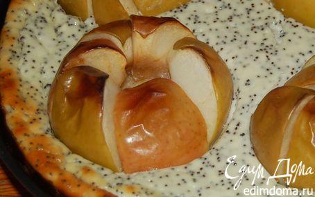 Рецепт Яблочно-творожный чизкейк с маком