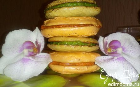 Рецепт Миндальные пирожные с творожно-марципановой прослойкой