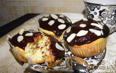 Рецепт Творожные кексы с шоколадом и бананом