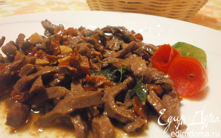 Рецепт Рагу из сердца с вялеными помидорами