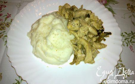 Рецепт Куриное филе с шампиньонами и кунжутом
