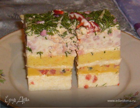 Закусочный яичный тортик