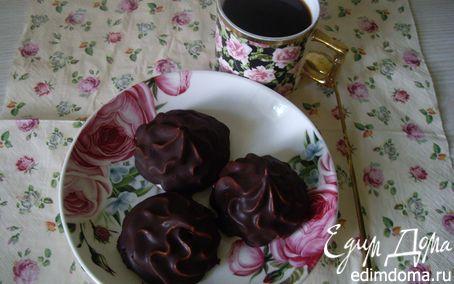 Рецепт Зефир малиновый в шоколаде