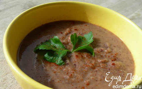 Рецепт Суп-пюре из красной фасоли с сельдереем и чили