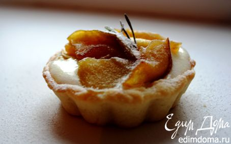 Рецепт Кростатине с кремом, яблоками и розмарином