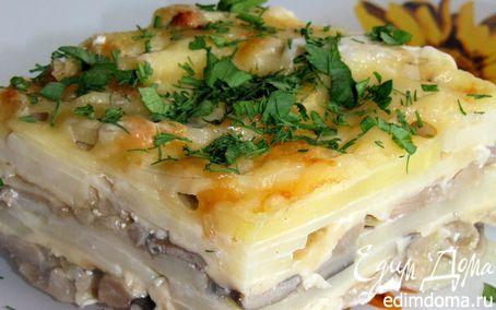 Рецепт Картофельная запеканка с вешенками