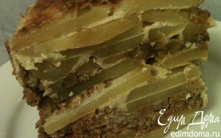 Рецепт Запеканка картофельная с фаршем и грибами