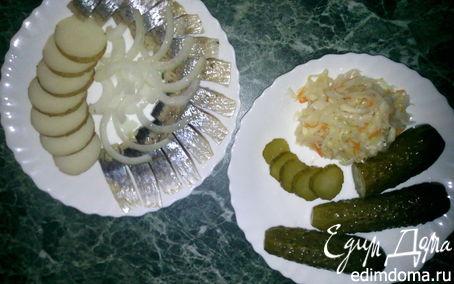 Рецепт Назад в СССР: Вкусная закуска - сельдь с отварным картофелем