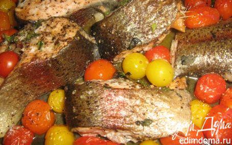 Рецепт Запеченная рыба с помидорами черри