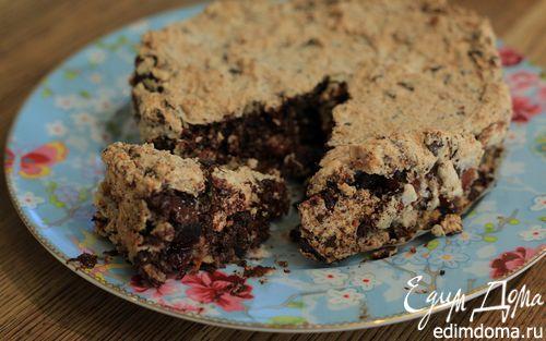 Рецепт Пирог с сухофруктами, миндалем и шоколадом