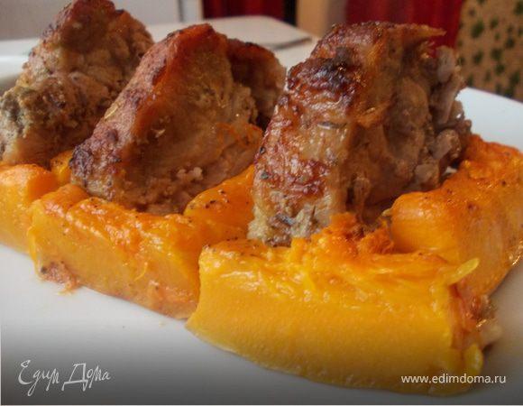 Свинина с тимьяном и тыквой