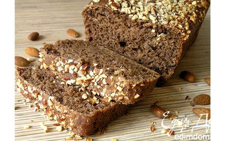 Рецепт Шоколадный хлеб с черносливом и миндалем
