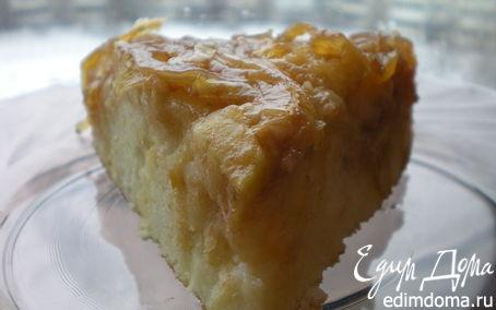 Рецепт Перевернутый яблочный пирог с карамелизированным луком от Эктора Хименеса Браво