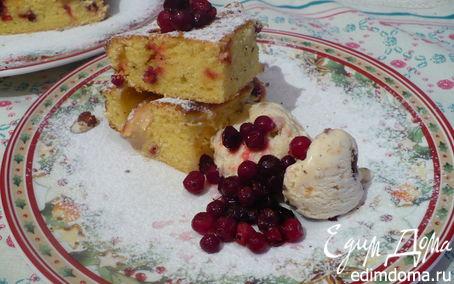 Рецепт бретонский пирог с яблоком и клюквой