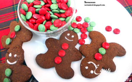 Рецепт Имбирные человечки (Gingerbread men)