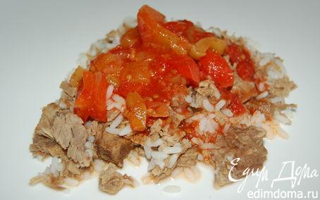 Рецепт Лечо (заготовка на зиму) + Рис с мясом