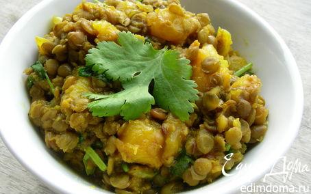"""Рецепт Индийский суп """"Даал"""" из чечевицы и манго"""