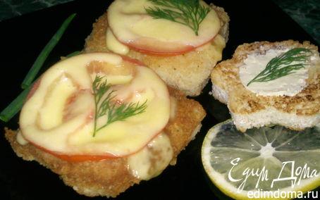 Рецепт Рыба в кляре с помидорами и сыром