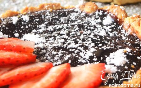 Рецепт Шоколадные тарталетки с клубникой