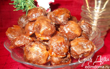 Рецепт Глазированные каштаны (Marrons glacés)