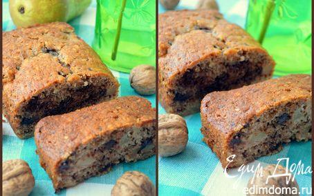 Рецепт Ореховый кекс с грушами и шоколадом